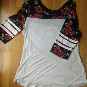 Patterned Rose Shirt